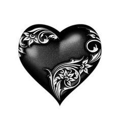 Shop Heart Scroll Black Heart Sticker created by AccentDesign. Dossier Photo, Black Heart Tattoos, Beautiful Dark Art, Beautiful Pictures, I Love Heart, Love Heart Images, Heart Pictures, Cover Up Tattoos, Heart Wallpaper