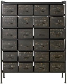 Industrial 24 Drawer Chest - Living Room Storage - Weylandts.co.za