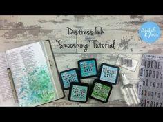Distress Ink Smooshing - Bible Art Journaling Challenge Week 22 - Rebekah R Jones
