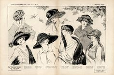 Lewis (Millinery) 1919  Drawing Mana, Fashion Illustration Hats