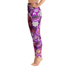 Items similar to Hot Pink Skull High Waist Yoga Leggings,High waist Capri Yoga Pants, Sport Stretch Leggings, Fitness Workout Pants Joggers, Yoga Shorts on Etsy Yoga Capris, Yoga Leggings, Yoga Pants, Skull Leggings, Purple Leggings, Tights, Pink Skull, Leggings Fashion, Workout Pants