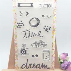 Time Dream Camera Photo Transparent Clear Stamp DIY Silicone Seals Scrapbooking/Card Making/Photo Album Decoration Crafts #Affiliate