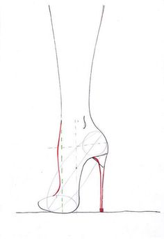 how to draw shoes high heels