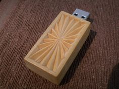 Hand Carved Wooden USB Drive