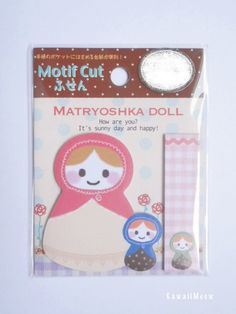 Kawaii Post-It Index Stickers - Matryoshka Doll - (70470) by KawaiiMeow on Etsy