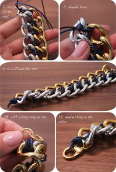 DIY: CC SKYE INSPIRED TWO TONE CHAIN BRACELET