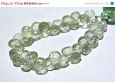 ON SALE 1/2 Strand 19Pcs 100% Natural Brazil Green Amethyst Micro Faceted Onion Briolettes Size 7.5 - 8.5mm Approx