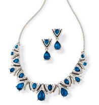 Blue Deco Collection Necklace and Earring Gift Set $12.99 www.youravon.com/pamelataylor