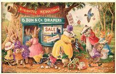 Vintage Racey Helps Postcard | eBay
