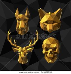Polygonal Dog Stock Photos, Images, & Pictures | Shutterstock