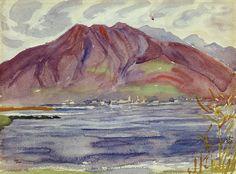 The Athenaeum - Regenlandschaft im Tessin (Giovanni Giacometti - )