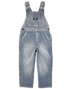OshKosh BGosh Baby Girls Heart Pocket Denim Overalls