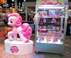 My Little Pony San Diego Comic Con Booth I like the big statue it was still the best day ever.
