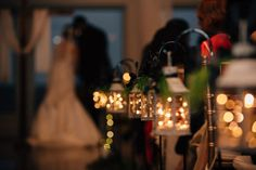 winter wedding aisle decor   Traci and Troy: http://www.traciandtroy.com