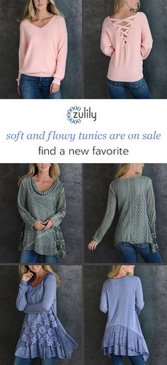 Prep your fall casualwear closet with soft and flowy tunics and more finds that are primed to infuse your look with romantic vibes. Shop new arrivals daily and save up to off with zulily Pretty Outfits, Fall Outfits, Cute Outfits, Fashion Outfits, Jeans Fashion, Love Fashion, Winter Fashion, Womens Fashion, Plus Size Womens Clothing