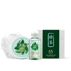 Fuji Green Tea Body Wash 2.0 fl oz Fuji Green Tea Mini Body Butter 1.7 oz White Fine Mesh Mini Bath Lily Enriched with Community Fair Trade Shea Butter from Ghana $10.00