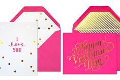 Love the matching envelope lining, foil, and shape of envelope