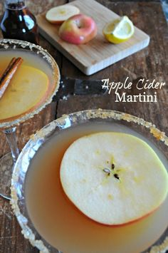 Ring in fall with this Apple Cider Martini Recipe from mountainmamacooks.com It's amazing!!