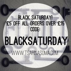 The sales aren't over yet! We're continuing the deals with a Black Saturday sale. You can get 5 off all orders over 15! Which means you can get some real bargains  This offer is only available online and will last until midnight tonight! Code: BLACKSATURDAY    #blackfriday #blackfridaysale #blacksaturday #sale #flashsale #saturday #saturdaysale #5poundsvoucher #moneyoff #discount #discount #jewellery #241 #fashion #accessories #darkfashion #grungegirl #ring #beautiful #love #cute #shopping…