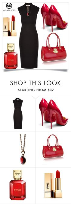 """""""Black & Red"""" by perezbarrios on Polyvore featuring MICHAEL Michael Kors, Christian Louboutin, Puck Wanderlust, L.A.P.A., Michael Kors and Yves Saint Laurent"""