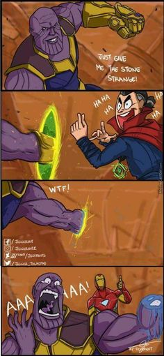 Click to see How Avengers Infinity War should have ended | Funny picture on Funny Goblin, the best creative humor community to search and share your favorite funny pictures, memes, gifs, jokes, humour pics, videos on internet.