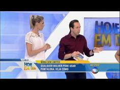 Ana Hickmann e Gustavo Sarti ensinam como utilizar calça pantalona