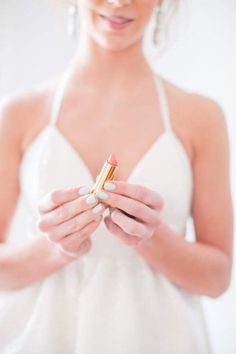 Vanity ~ Dressing Area Wedding Nails For Bride, Bride Nails, Bridal Beauty, Bridal Makeup, Bridal Hair, Lip Lacquer, Kissable Lips, Classy And Fabulous, Pink Lips