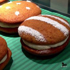 Pumpkin meets maple cream cheese in these heavenly whoopie pies