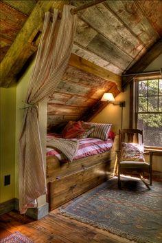 cabin loft bed   Pin it Like Image