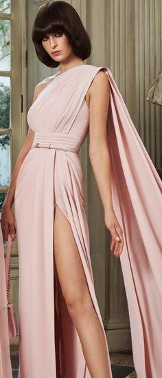 Zuhair Murad, Red Carpet, Diva, Wrap Dress, Runway, Sari, Gowns, Womens Fashion, Blush Gown