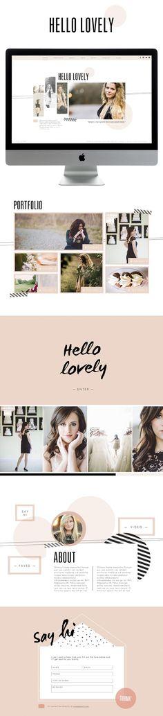 Hello Lovely - Designed by Meg Long for SiteHouse || Promise Tangeman
