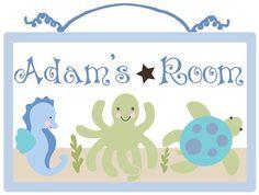 Personalized  Ocean Babies/Sealife  Wood by PersonalizedbyDiane, $19.99