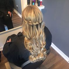 Waterfall braid with waves with some great lengths hair extensions