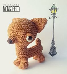 Chihuahua dog amigurumi pattern by Mongoreto on Etsy