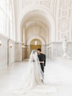 Bride and groom at San Francisco City Hall elopement