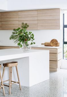 kitchen flooring Ideas Kitchen Wood Floors Polished Concrete For 2019 Three Mistakes Pa Interior Modern, Interior Design Kitchen, Kitchen Decor, Kitchen Ideas, Interior Paint, Interior Ideas, Modern Exterior, Interior Lighting, Wood Floor Kitchen