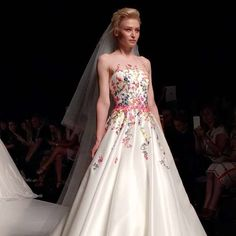Floral bodice wedding dress by Sassi Holford