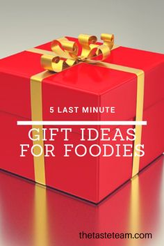 Still searching for the perfect gift for your special friend?  Here's a quick list of gift ideas for foodies!