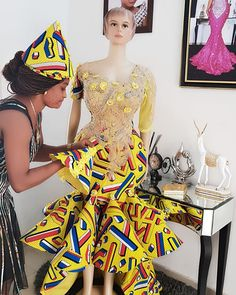 FOCUS without looking back💛💛💛 lce Cream Cup Ankara Dress toh taa Leun💛💛💛 Jagabanobirinmetaherself💋👅💓 It's always different and exciting when I put put old threads into modern day fashion to achieve beautiful results 😍😍 Ankara Dress Styles, African Print Dresses, Blouse Styles, Ankara Gowns, African Prints, Blouse Designs, African Fashion Ankara, Latest African Fashion Dresses, African Print Fashion