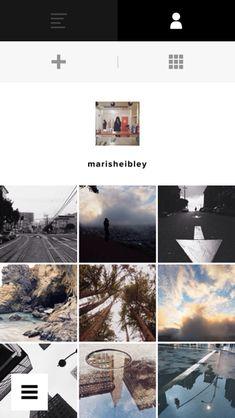 VSCO iPhone user profiles, galleries, photo gallery screenshot