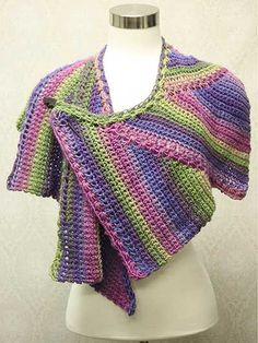 Star Zag Crochet Shawl pattern from AnniesCraftStore.com. Order here: https://www.anniescatalog.com/detail.html?prod_id=123634&cat_id=24