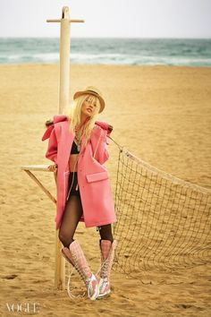 """Woman in Pink"" Vogue Korea December 2014"