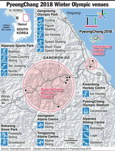 Image result for south korea olympic map