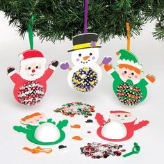 Buy Christmas Character Sequin Decoration Kits at Baker Ross. Add some sparkle to your Christmas with these sequin Christmas character decorations! Each kit contains foam Christmas Craft Projects, Christmas Crafts, Christmas Ornaments, Christmas Tree Decorations, Holiday Decor, Foam Shapes, Christmas Characters, Kit, Craft Supplies