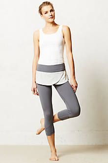 Anthropologie pure + good skirted compression crop leggings