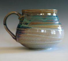 Large Porcelain Coffee Mug 24 oz handmade ceramic cup by ocpottery, $32.00