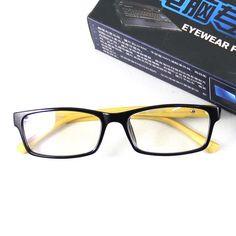 Retro Computer Reading Glasses Eyewear Acrylic Lens Anti-radiation Black Frame…