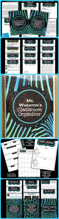 "Oh my goodness!  I am SO excited to share this with y'all!  I just finished creating an EDITABLE classroom organizer SPECIFICALLY for middle and high school teachers! One user said: ""Wow, I am blown away by the AMAZING resources in this product! Everything you could possibly need and want is included in this product. The best part is not only is it super functional and incredibly cute, but you can also customize it to fit your specific needs!""  $"