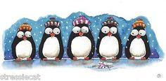 Waiting for dinner... Original Watercolor Painting Whimsy Illustration Winter Scene Penguin Snow Fish | eBay