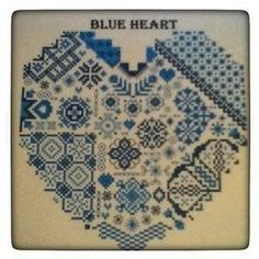 Cross Stitch and Blackwork Heart £7.00
